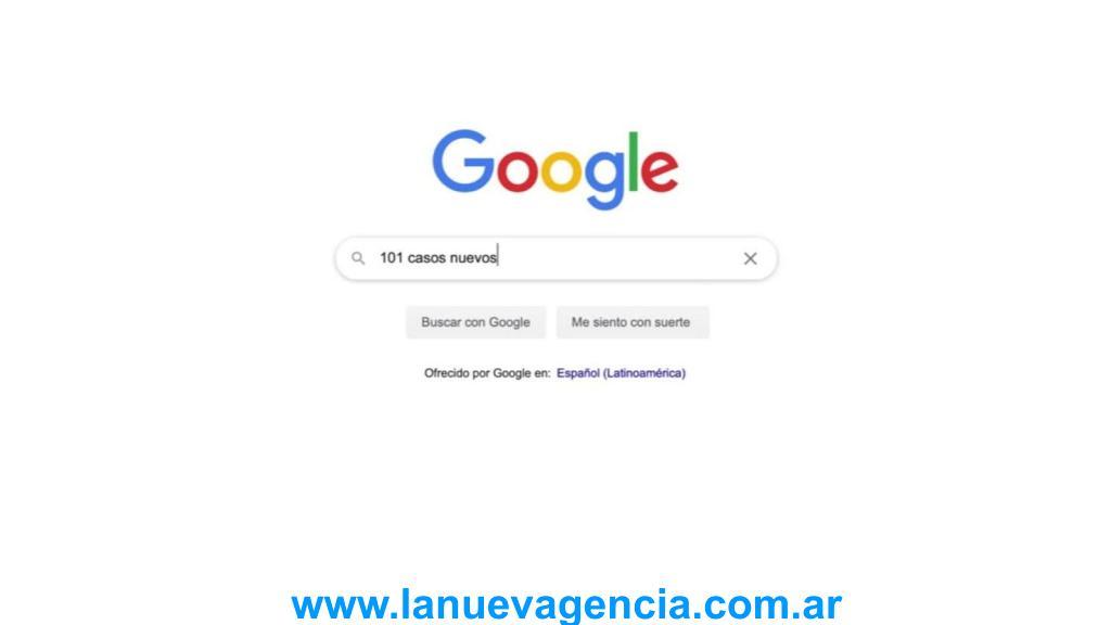 Google: escribe 3 números +